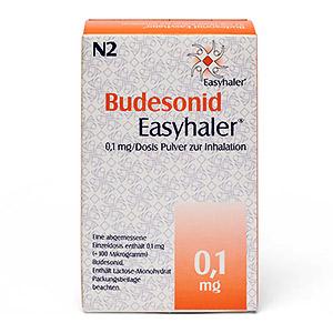 Budesonid Easyhaler 0.1mg packung vorderansicht