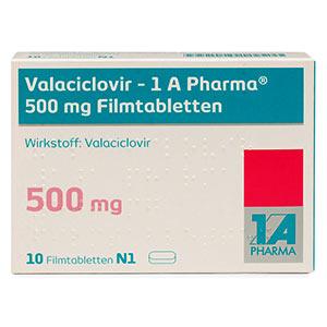Valaciclovir-1A-Pharma-500mg-packung-vorderansicht
