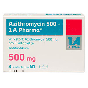 Azithromycin-500-1A-Pharma-500mg-vorderansicht